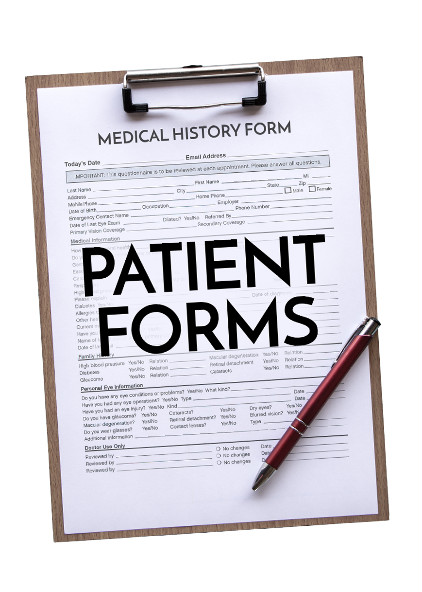 Patient Form on a Clip Board